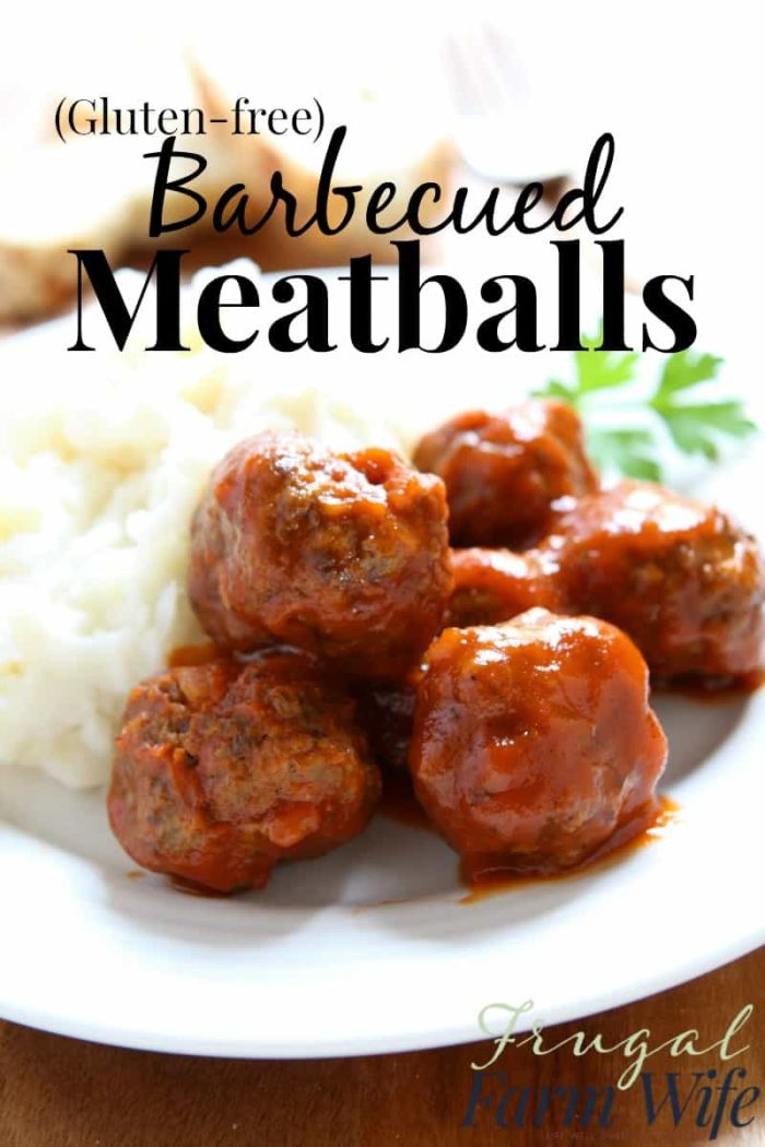 These gluten-free BBQ meatballs are a family favorite and they're not only easy to make, but gluten-free!