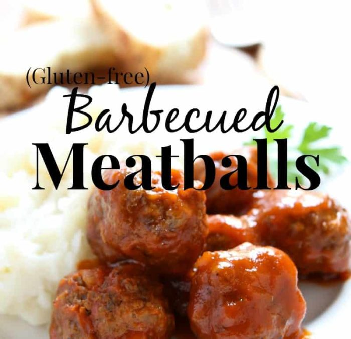 I am loving these gluten-free BBQ meatballs! Totally making them tonight!