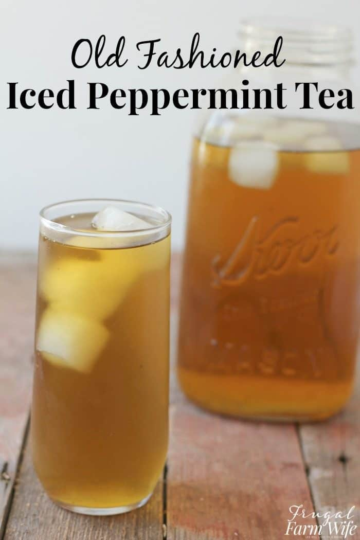 Peppermint iced tea is the perfect cooling drink on hot days!