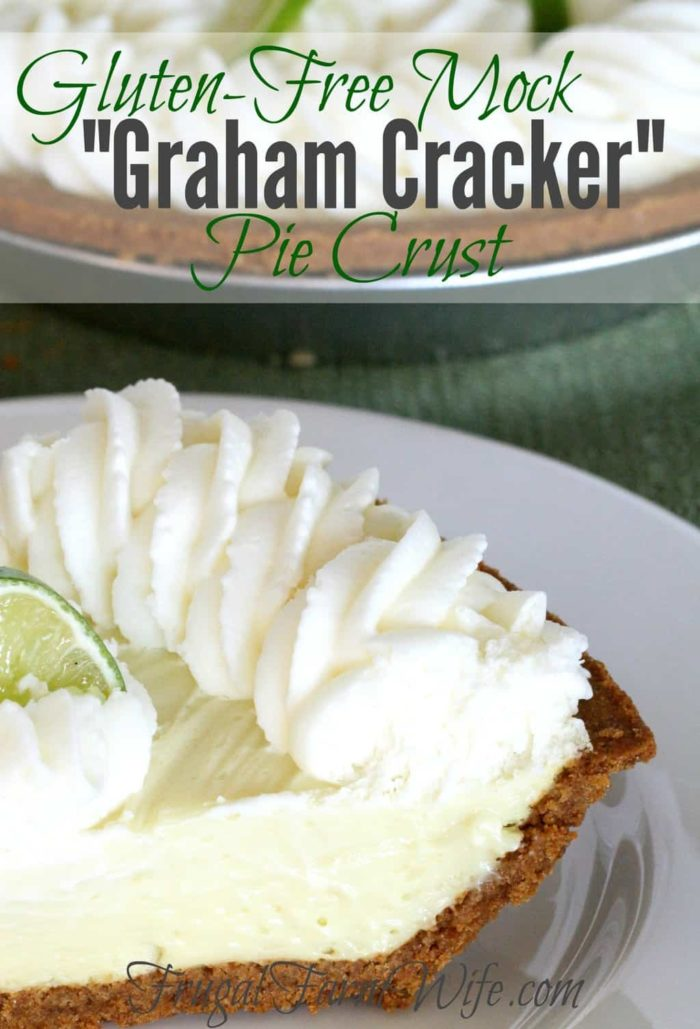 "the Gluten-Free ""Graham Cracker"" Pie Crust makes pie making SO easy. I love it!"