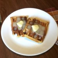 Pumpkin Waffles With Cream Cheese Syrup