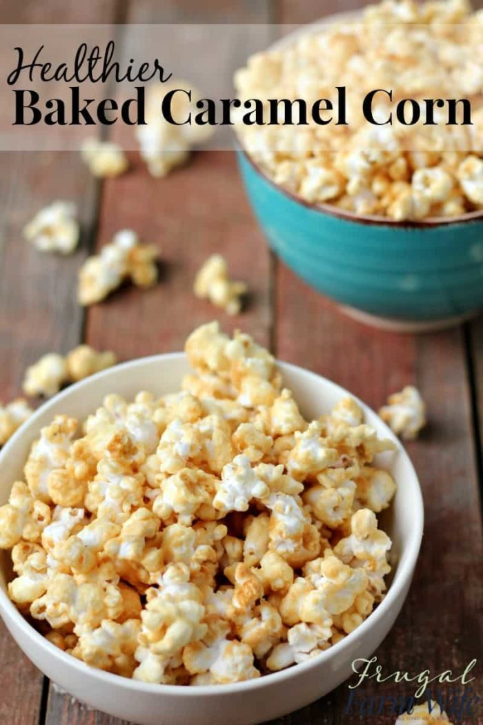 No Corn Syrup Caramel Corn Recipe: This healthier baked caramel corn is amazing! It uses evaporated cane juice in place of the corn syrup used in most recipes.