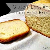 Gluten, Dairy, And Egg Free Bread