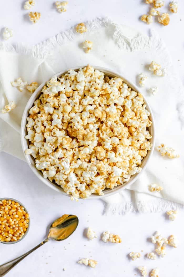 Easy peanut butter popcorn recipe for movie night