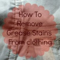 How To Remove Grease Stains From Clothing
