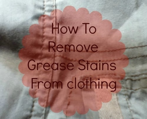 How to remove grease stains from clothing the frugal for Remove oil stains from shirt