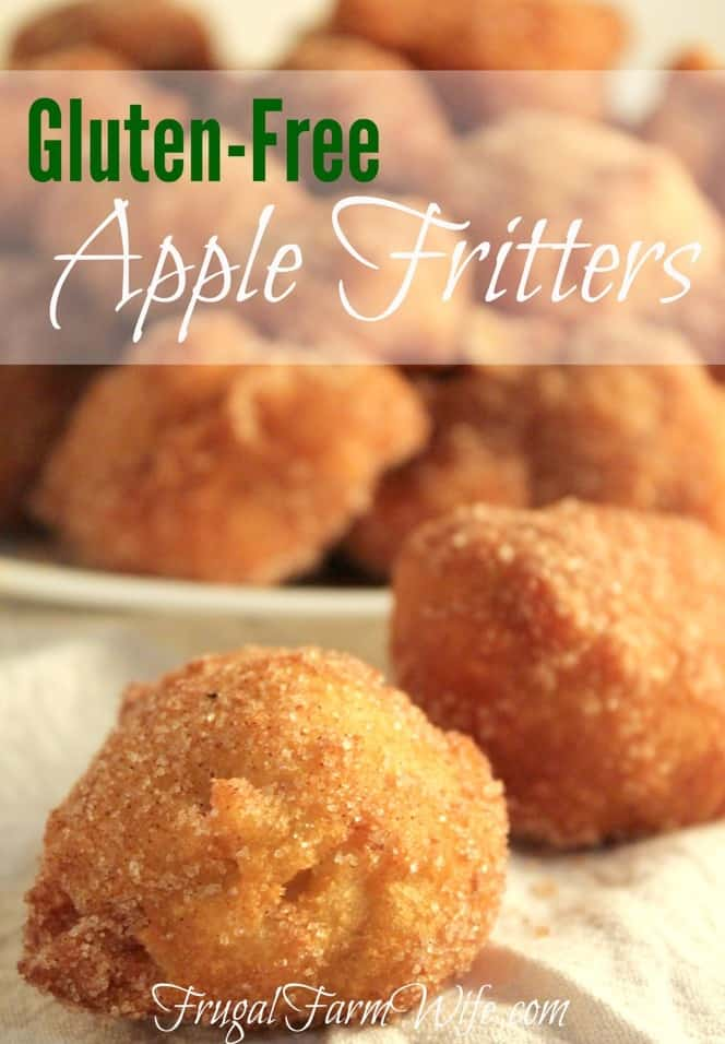These gluten-free apple fritters are melt-in-your-mouth good! We rolled ours in cinnamon-sugar instead of drizzled icing, and LOVED them!