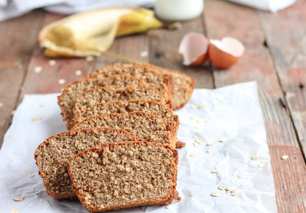 Flourless Oatmeal Banana Bread