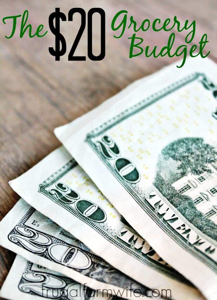 The $20 grocery budget is possible! It takes a little work to save money, but cutting back on groceries is a great way to lower your monthly costs!