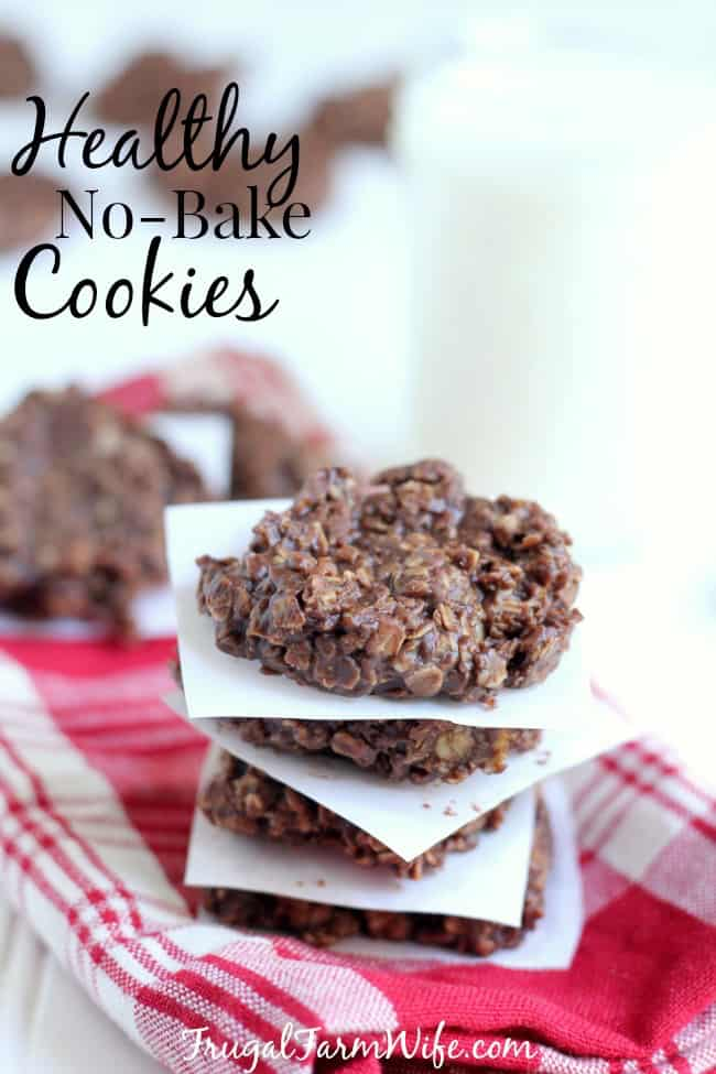 These healthy no-bake cookies are easy to make, and SO delicious my kids don't even know the difference.