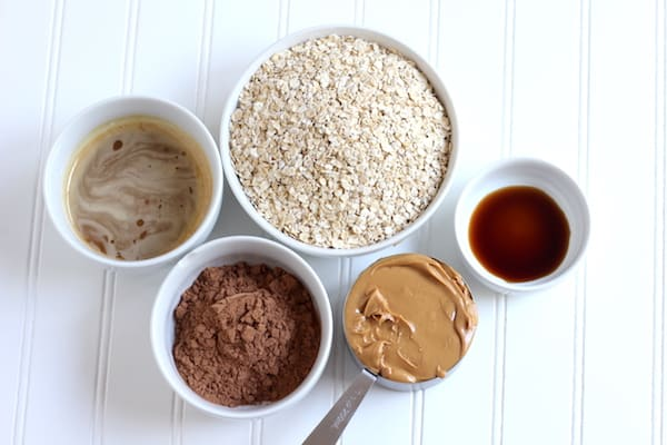 ingredients for healthy no-bake cookies