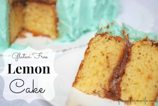 gluten-free lemon cake recipe