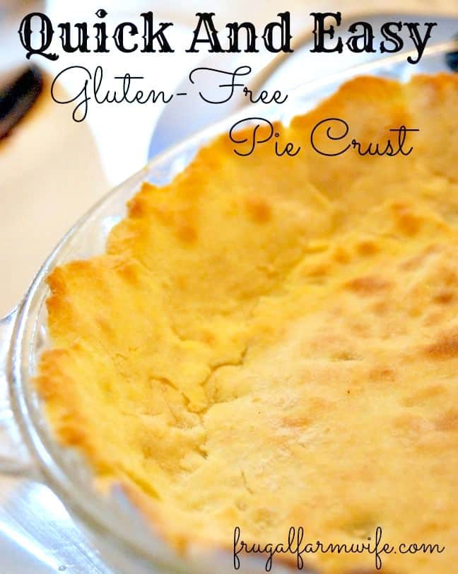 gluten-free pie crust that's quick and easy