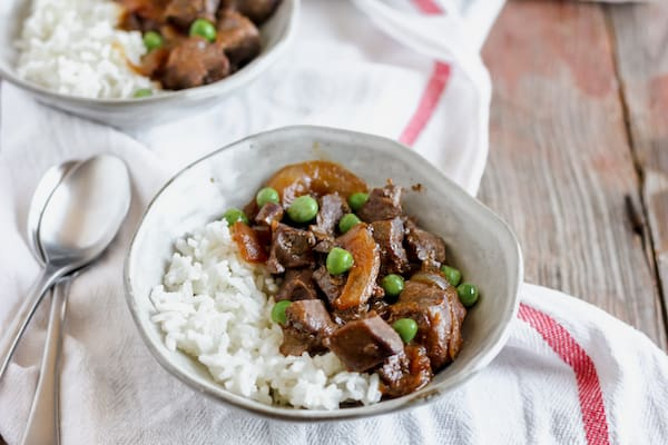 beef heart with onions recipe