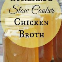 Homemade Slow Cooker Chicken Broth