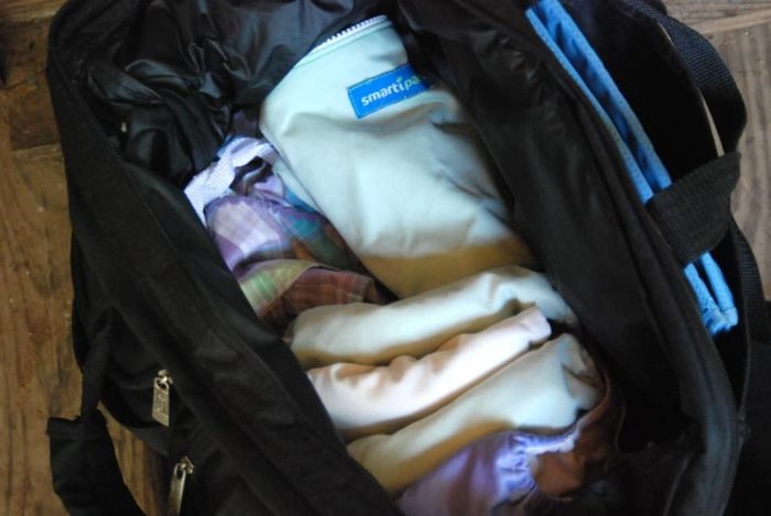 what's in my cloth diaper bag