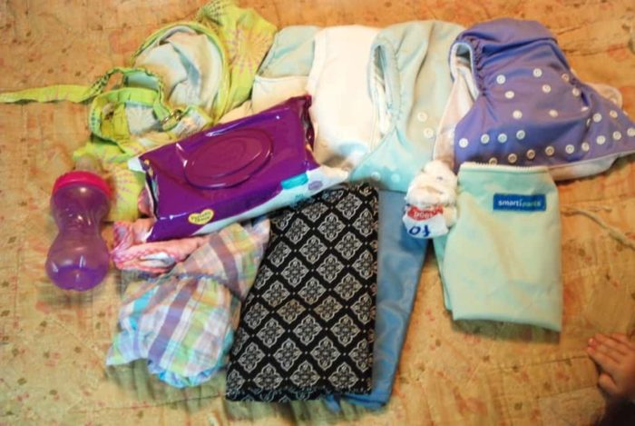 items from my cloth diaper bag