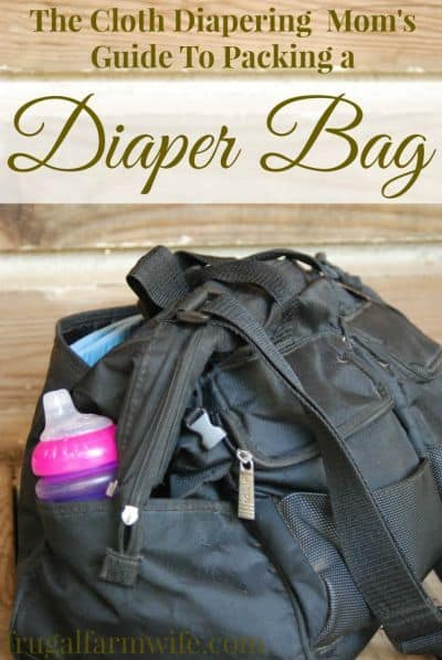 how to pack your cloth diaper bag