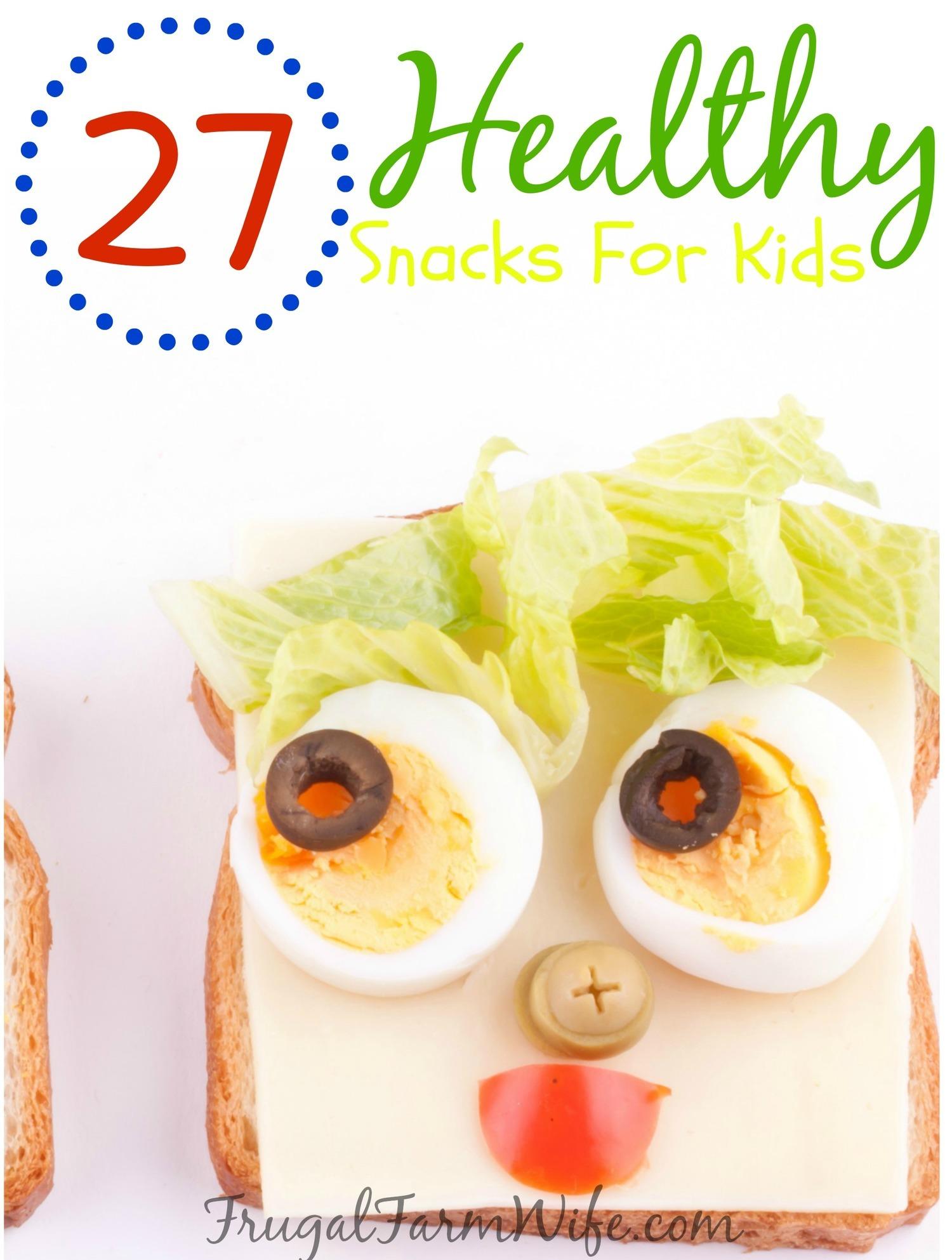 healthy kid snack recipes the frugal farm wife