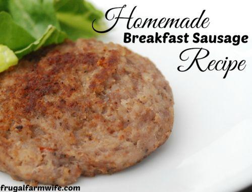 how to make homemade sausage