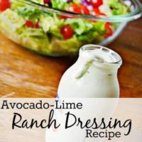 Avocado-Lime Ranch Dressing Recipe