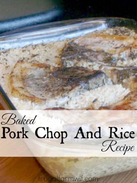baked pork chops and rice easy dinner
