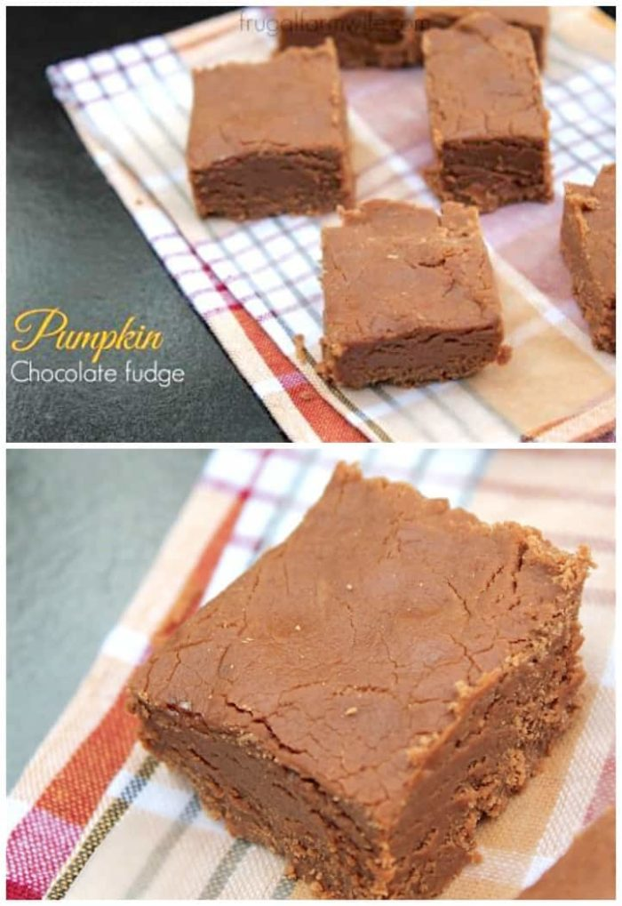 The pumpkin spice chocolate fudge is the essence of fall!