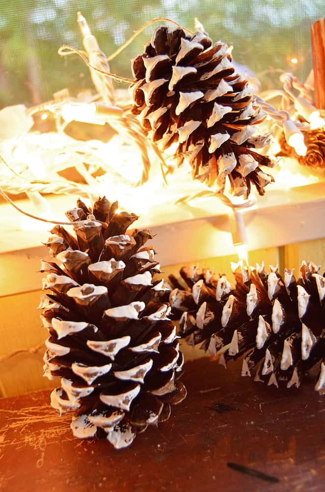 DIY Pinecone Ornaments
