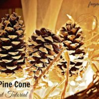 DIY Snow-Covered Pine Cone Ornaments