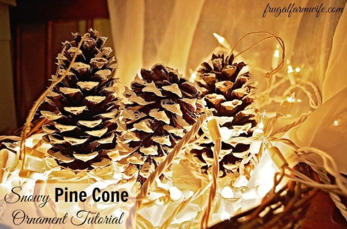 DIY Pinecone Ornament Tutorial