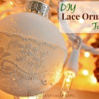 DIY Rustic Lace Ornament Tutorial