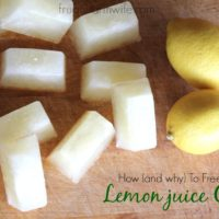 How To Freeze Lemon Juice