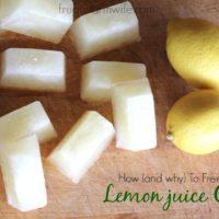 How To Freeze Lemon Juice