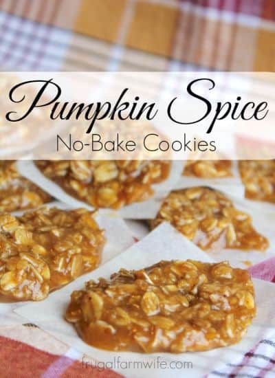 These Pumpkin Spice No-bake cookies are perfect for fall!