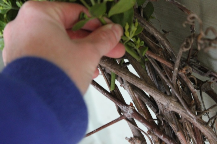 how to make a grapevine and mistletoe wreath