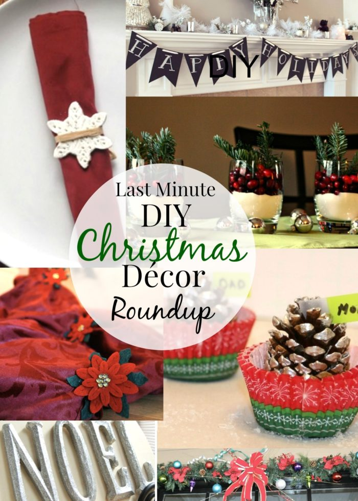Last Minute Christmas DIY Décor Roundup