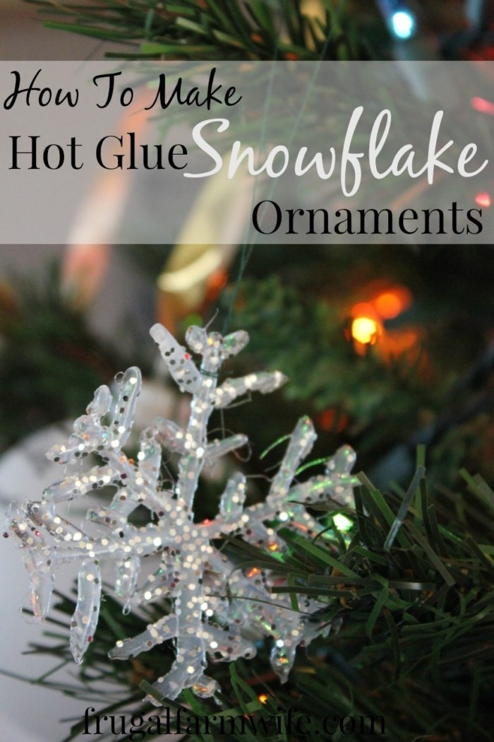 Hot Glue Snowflake Ornament