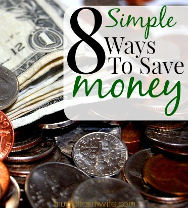 8 simple ways to save money