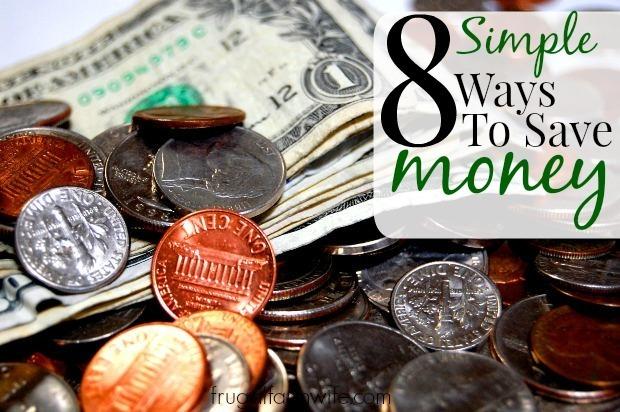 eight simple ways to save money