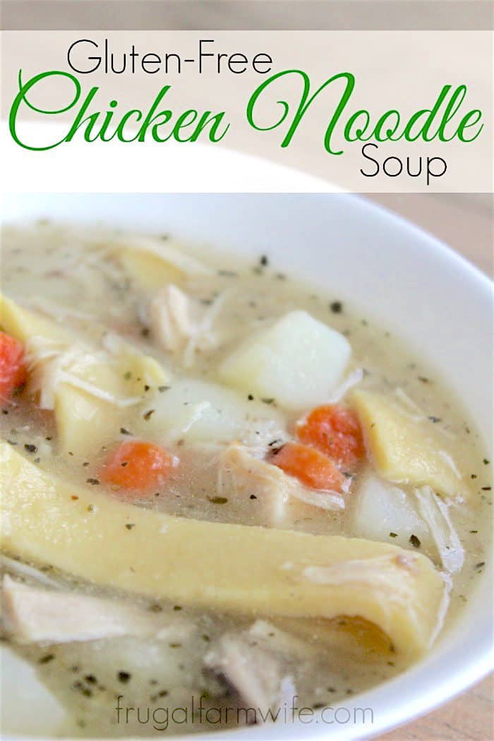 This gluten-free chicken noodle soup recipe is the epitome of comfort food!