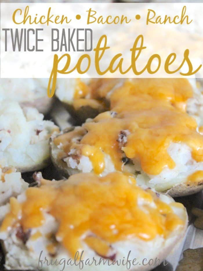 These chicken, bacon, ranch twice baked potatoes have a long name, but they're to die for!