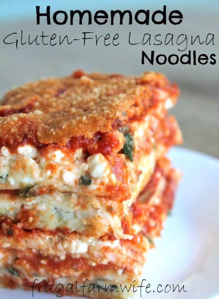 Homemade gluten-free lasagna noodles - so good!