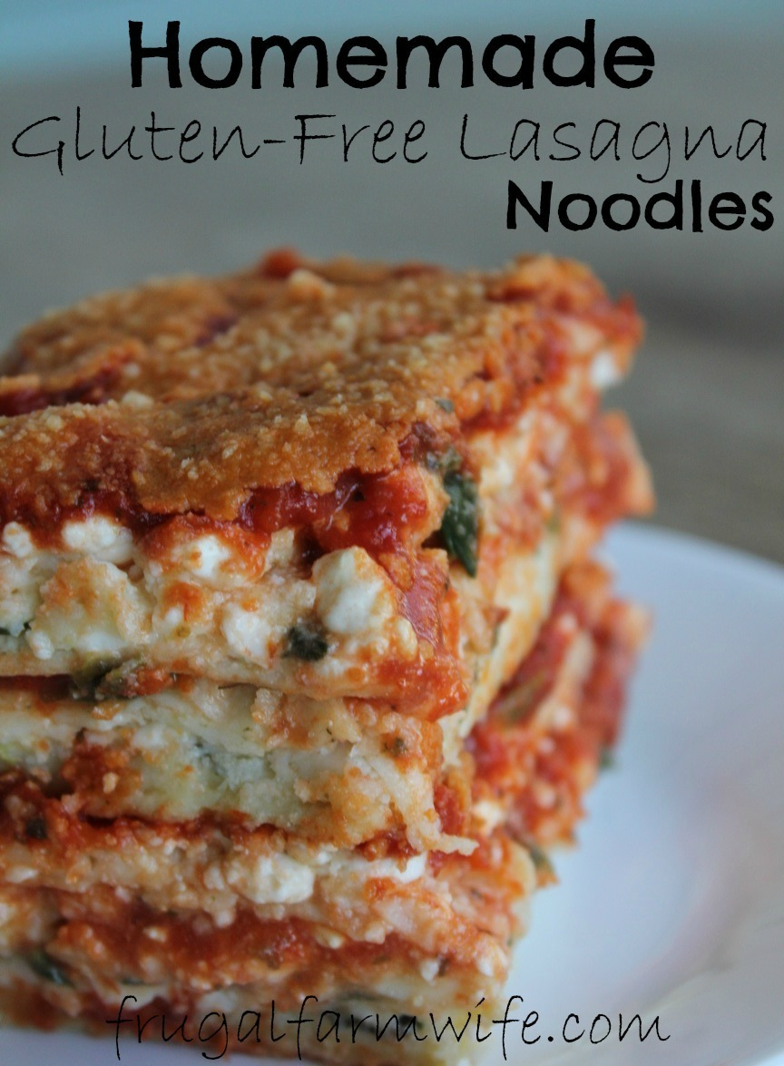 Gluten-Free Lasagna Noodles | The Frugal Farm Wife