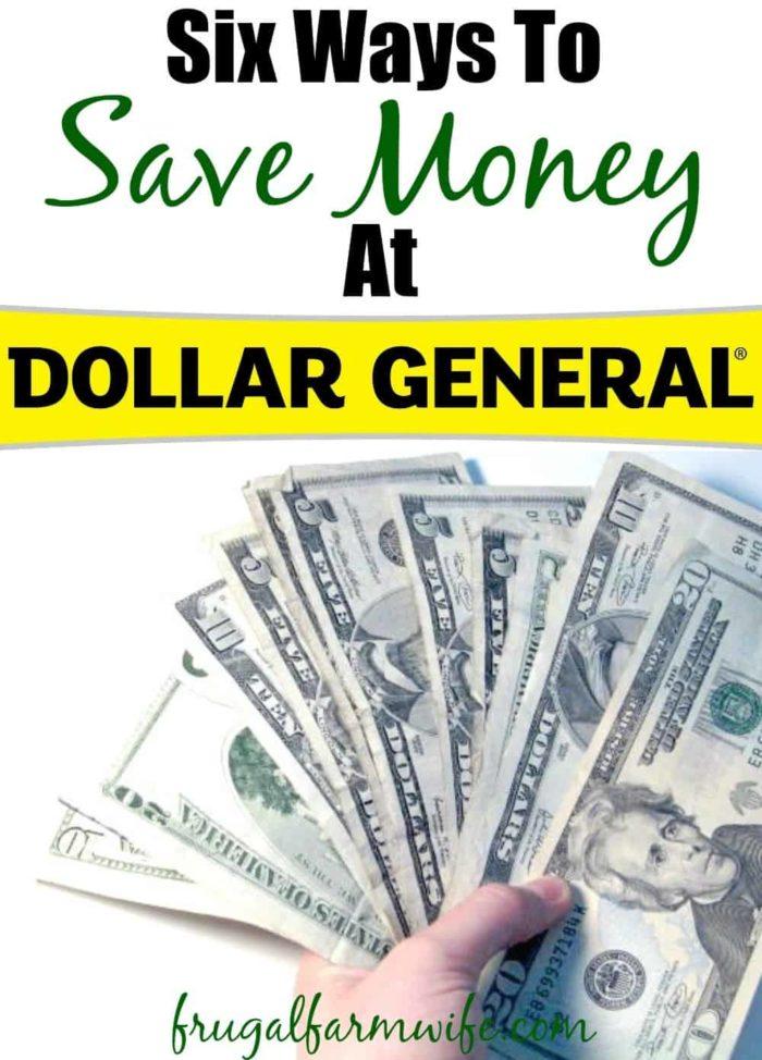 Six Ways To Save At Dollar General