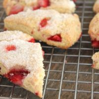 Gluten Free Strawberry Scones