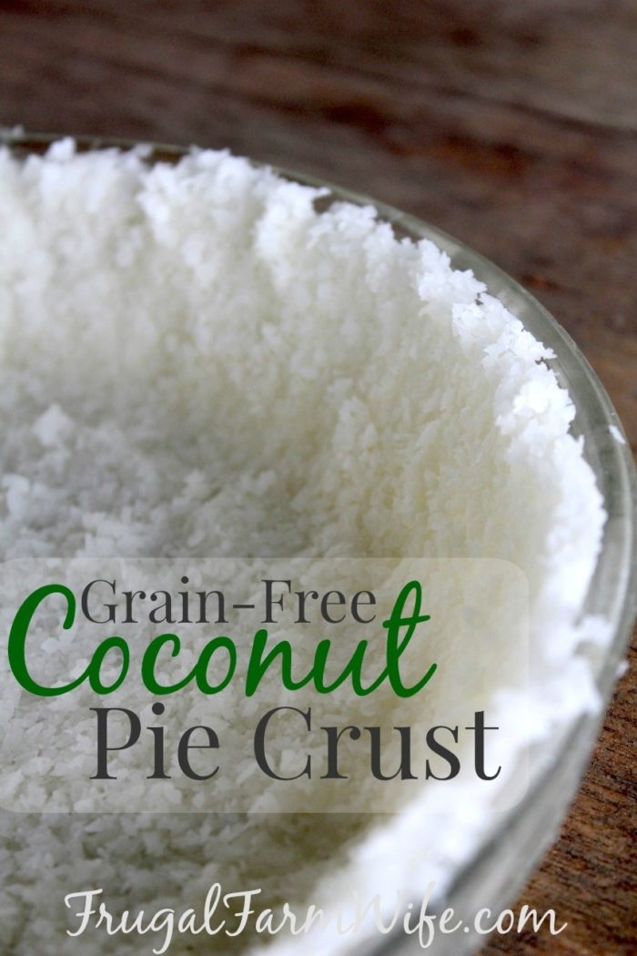 grain-free coconut pie crust