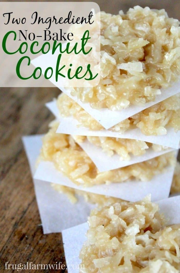 No Bake Coconut Cookies The Frugal Farm Wife