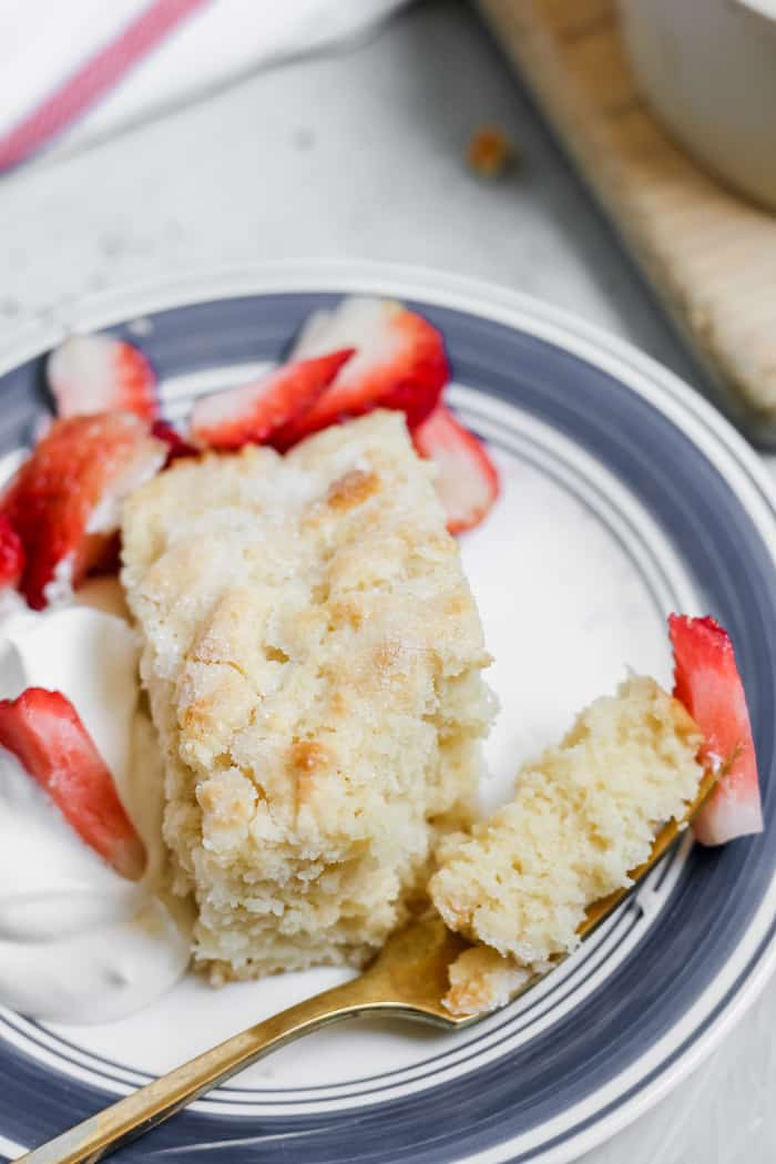 so easy to make! Gluten-free strawberry shortcake.