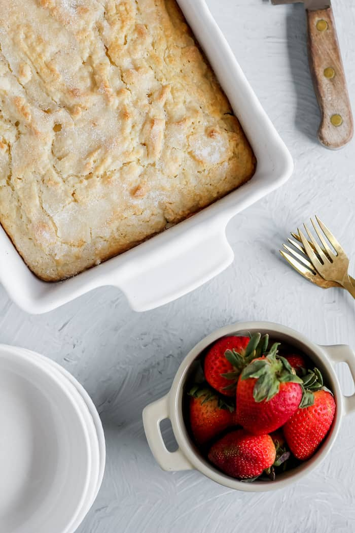 strawberry shortcake ready to serve