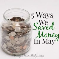 Five Ways We Saved Money In May